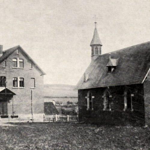 Kirche und Schule um 1900